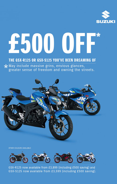 gsx-s125 gsx-r125 suzuki special offer
