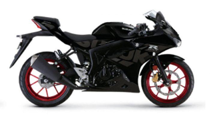 gsx r125 motorbike 2021 black