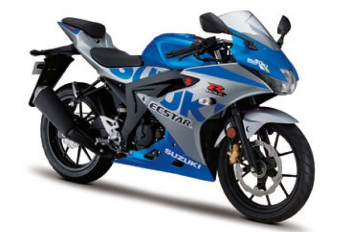 gsx r125 motorbike 2021 blue uk
