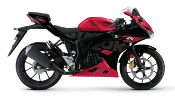 gsx r125 motorbike 2021 red