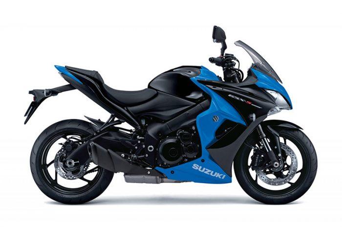 gsx s1000f suzuki blue motorbike