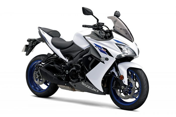 gsx s1000f suzuki white bike