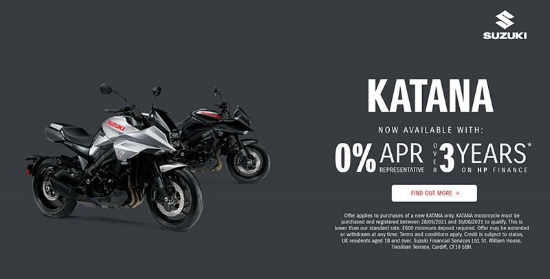katana suzuki 0 percent finance