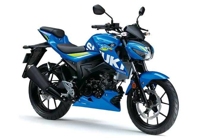 suzuki gsx s125 in blue
