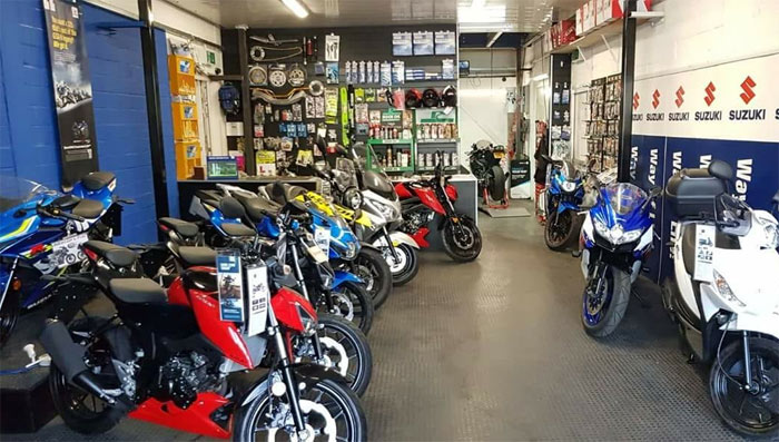 location of used motobike shop london