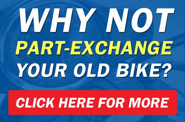 part exchange motorbike for new