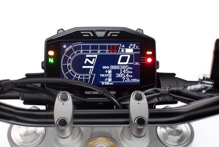 suzuki GSX S950 blue dash