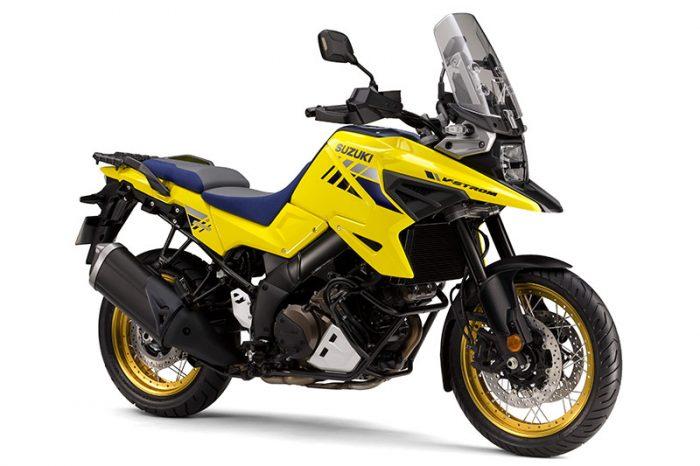 suzuki V Strom 1050 yellow