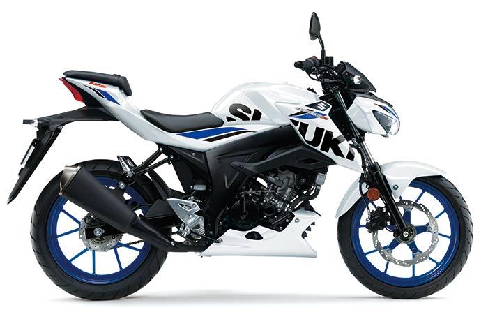 suzuki gsx s125 motorbike white 2019