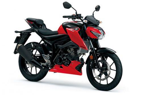 suzuki gsx s125 motorbike red
