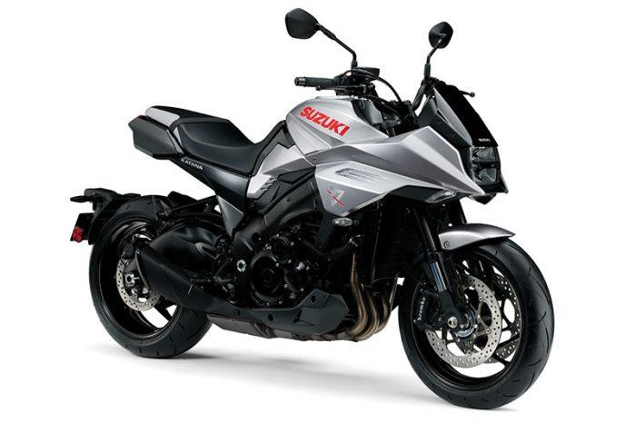 suzuki katana silver motorbike