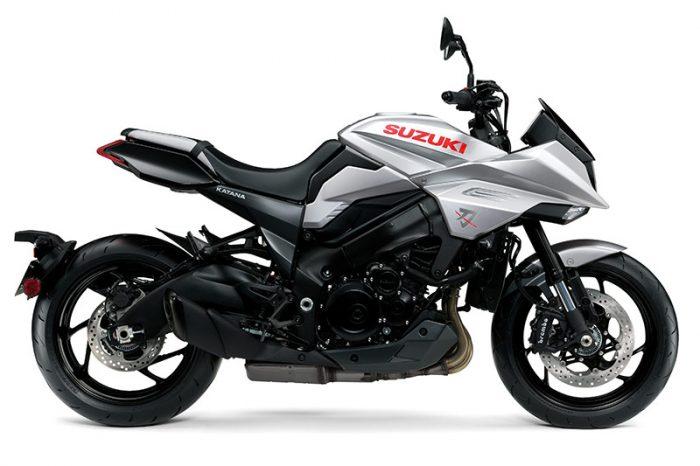 suzuki katana silver motorcycle