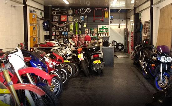 location of used motobike shop london